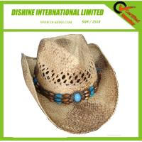 Wholesale Straw Cowboy Hat With Brown Band from china suppliers