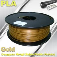 Wholesale Cubify And Up 3D Printer Filament PLA 1.75mm 3.0mm Gold Filament from china suppliers