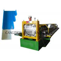 China Portable Metal Roofing Sheet Roll Forming Machine , Standing Seam Roof Panel Machine for sale