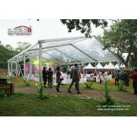 Best 15M Clear Span Marquee Tent  With Transparent Roof And Sidewalls For Wedding Exhibition Show wholesale
