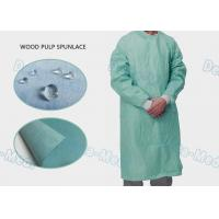 Wholesale High Performance Disposable Standard Surgical Gown Wood Pulp Spunlace With 4 Waist Belts from china suppliers