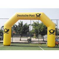 Wholesale 8.4m Commercial Full Printed PVC tarpaulin yellow color advertising inflatable archway for brand promotion from china suppliers