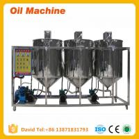 Wholesale high quality small scale cooking oil refinery machine Small Capacity Edible Oil Refinery from china suppliers