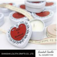 Wholesale Heart Shaped Travel Tin Soy Candles With Red Printing Logo / One Cotton Wick from china suppliers