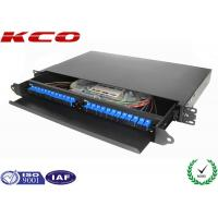 China 19'' Fiber Optic Terminal Box / Fiber Optic Patch Panel 24 Cores With SC Pigtail on sale