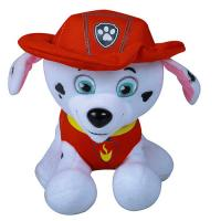 China Red Hat Christmas Stuffed Dog , Customized Christmas Dog Stuffed Animal for sale