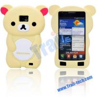 Wholesale Lovely Bear Soft Silicone Case for Samsung Galaxy S2 i9100 (Yellow) from china suppliers