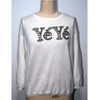 Wholesale Ladies Floral Print Sweater , Combed Cotton 2/32s 14gg with Letters Embroidery from china suppliers