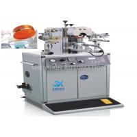 Irregular Caps Semi - Automatic Hot Foil Plastic Stamping Machine 0.6MPa Compressed Air for sale