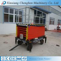 China aerial scissor type platform lift from china on sale