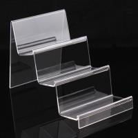 China 3 Layer Clear Acrylic Display Stand For Book / Cell Phone / Wallet / Hand Bag for sale