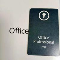 China Online Activation Computer Software System , Microsoft Office 2019 Professional Key Card for sale