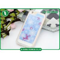 Wholesale Sand Snow Christmas Tree iPhone Cell Phone Cases Full Area Printed Dust Proof from china suppliers