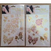 Wholesale 2015 hot sell UV colorchanging tattoos metallic tattoo gold foil tattoo color change tatto from china suppliers