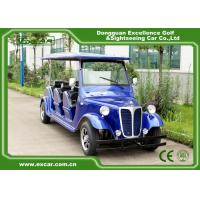 China Energy Saving Classic Golf Carts With 3 Row Blue Color Vintage Type for sale
