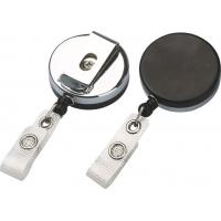 Plastic Chrome Plated Badge Reel 750mm - 900mm Retractable ID Badge Reels With OEM 30239