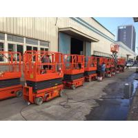 Wholesale Safety Load 320KG Hydraulic Scissor Lift With Working Height 13.8m Orange Color from china suppliers