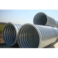 Wholesale Steel Pipe / Corrugated Steel Pipe Culvert is a flexible structure adapt to different terrain subsidence from china suppliers