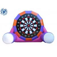 Wholesale 6m PVC Tarpaulin Inflatable Kick Dart Board Soccer Game With Velcro Balls Purple Color from china suppliers
