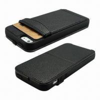 Wholesale Leather Flip Cases for iPhone 5 with Stand and Additional Card Slot Function from china suppliers