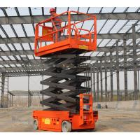 Wholesale Mini SeAerial Work Scissor Lift Small Platform With Hydraulic Turning Wheel from china suppliers