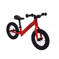 China 12 Inch  Aluminum Red Kids Balance Bike No Pedals Ride On Bike For 2-6 Years Old With Lock-out Seat Clamp for sale