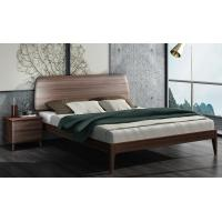 Wholesale 2017 New Walnut Wood Bedroom Furniture Nordic design King size bed from china suppliers