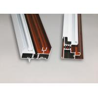 China Wood Finish Structural Aluminium Extrusions Windows Profile Anti Corrosion on sale