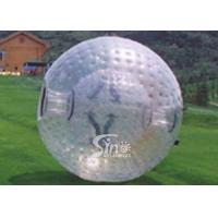 Wholesale 2.6m dia. transparent human roll inside inflatable zorb ball for outdoor adventure from china suppliers