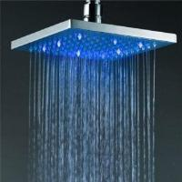 China LED shower/8-inch square wall-mounted rainfall showerhead on sale