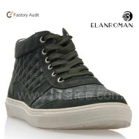 Wholesale Army green leather men ankle boot 2013 from china suppliers