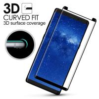 Wholesale Samsung Note 8 Anti Smudge Privacy Glass Screen Protector 3D Curved Edge from china suppliers