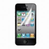 Wholesale Clear Screen Protector with Anti-scratch/-glare and Dust-/Waterproof Features, Ideal for iPhone 4 from china suppliers