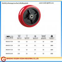 4 inches to 8 inches pu pvc double ball bearing single wheels