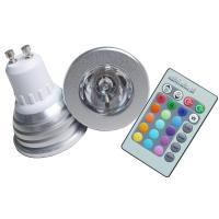 China Auto Color Decorative GU10 1 * 3W Remote Control 16 - Color RGB LED Spotlight Bulbs on sale
