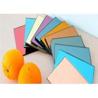 Eco Friendly Decorative Tinted Glass , 3mm Thickness Colored Mirror Glass for sale