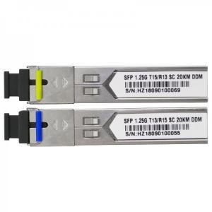 Wholesale 1.25G Bidi Fiber Optic SFP Module SC Connector 20Km Gigabit Optical Transceiver from china suppliers
