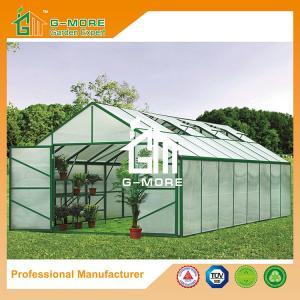 Quality Aluminum Greenhouse-Titan series-806X406X273CM-Green/Black Color-10mm thick PC for sale