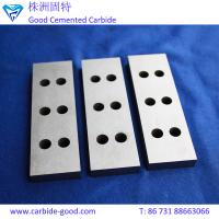 Wholesale Metal cemented carbide strips tungsten carbide strips with holes for wood cutting tools from china suppliers