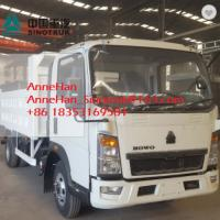 Euro3 Mid Liftting SINOTRUK Howo7 Light Duty Trucks LHD 4x2 116HP 5-7T Load for sale