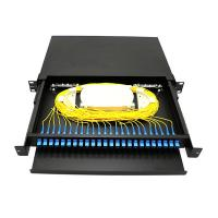 Wholesale 19 Inch Fiber Optic Distribution Box Sliding Fiber Optic Patch Panel Rack Mount from china suppliers