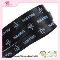 Wholesale 10 mm Black Custom Printed Ribbon for Christmas thermal transfer Printing process from china suppliers