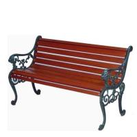 Wholesale Cast Iron Wooden Garden Bench , Eco Friendly Outdoor Wooden Bench Seat from china suppliers