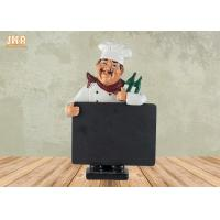 China Small Polyresin Statue Figurine With Chalkboard Blackboard for sale