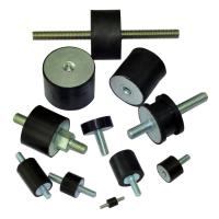 China High quality EPDM rubber vibration isolators NR damper with hole M10 Male Bolt Female Stud on sale