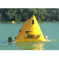 Wholesale Triathlon Race 1.2m Yellow Triangle Inflatable Marker Buoy With Logo from china suppliers