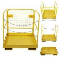 Wholesale Extra Height Hanging Work Platform Forklift Basket Safety Cage Yellow Color from china suppliers