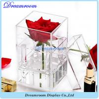 Wholesale Customized Clear Acrylic Luxury Rose Flower Gift Box with Lid from china suppliers