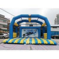 Wholesale Kids N Adults Inflatable Football Goal shoot With big jumping pad for interactive games from china suppliers