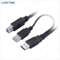 Wholesale USB 3.0 cable am to bm usb 3.0 and usb 2.0 Y-cable for printer from china suppliers